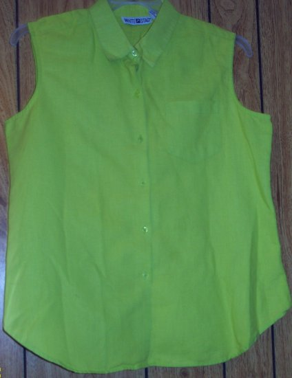 WHITE STAG NO SLEEVE LIME GREEN SHIRT SIZE LARGE