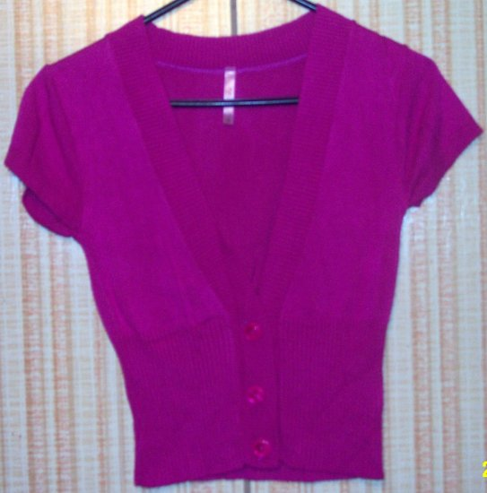 RUE 21 HOT PINK CARDIGAN VEST SIZE SMALL