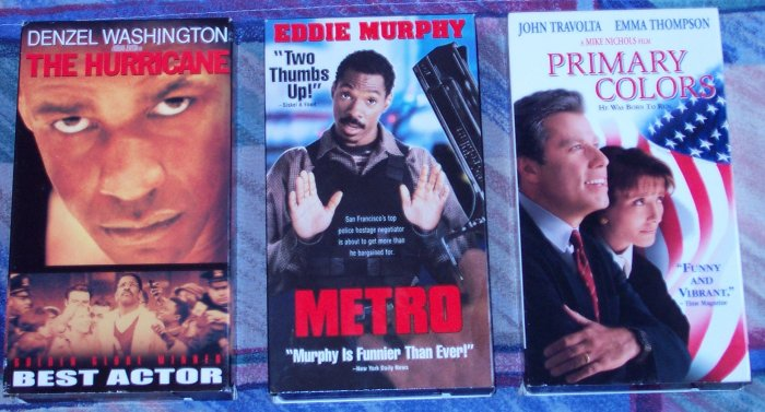3 VHS MOVIES