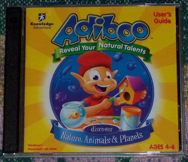 ADIBOO DISCOVER NATURE, ANIMALS AND PLANETS PC GAME
