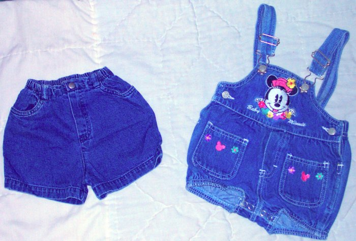 CUTE SHORTS OVERALLS AND SHORTS SIZE 3-6 MONTHS