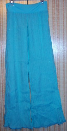 TURQUOISE PAJAMA PANTS SIZE X-SMALL