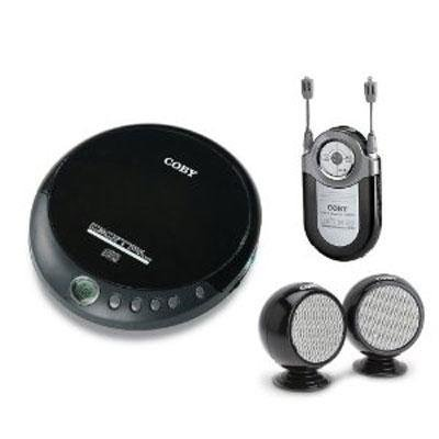 Coby Electronics Personal CD player w Mini Spkr