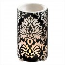 Black Filigree Wax Lantern