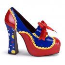 """Funtasma"" - 5"" Heel Circus Multicolor Shoe w/Bow Accent"