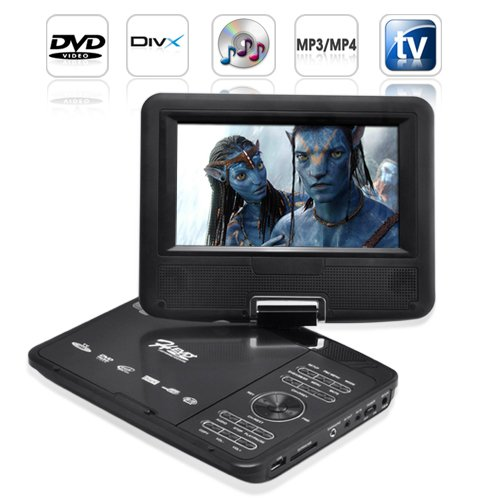 7 Inch LCD Widescreen Portable DVD Player w/ Copy Function