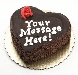 Heart Shaped Cheesecake - Chocolate Fudge