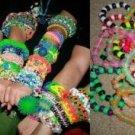 20 Pc Glow Mix Kandi Raver Pony Bead Bracelets Mystery Pack