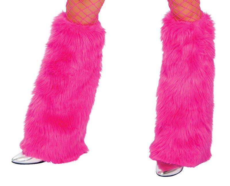 Hot Pink Luxury Fur Leg Warmers Fluffies Playa Wear