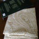 Ralph Lauren Veranda Paisley Sand Tablecloth 70 84 NEW
