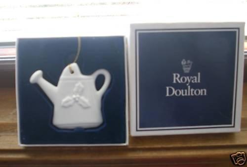 Royal Doulton Watering Can Ornament White NEW NIB