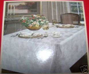 NEW Spode Holly White Damask Tablecloth 60 84 New NIP