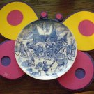 """Spode Reindeer Roundup Coupe Plate 9"""" NEW"""