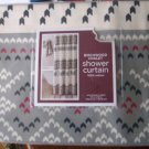 Birchwood Chalet Shower Curtain NIP NEW