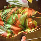 NEW Anne Klein Red Palm Leaf Swim Suit Bathing NWT 14