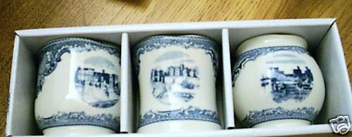 NEW JOHNSON BROS BROTHERS BLUE BRITAIN CASTLE VOTIVES 3
