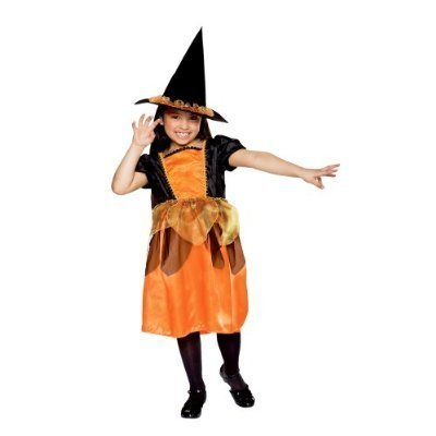 NEW Girls October Witch Costume M Medium 6 7 8 Play