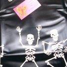 Monster Madness Black Skeleton Shower Curtain Vinyl NEW