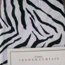 Royal Bath Zebra Black White Safari SHOWER CURTAIN NEW