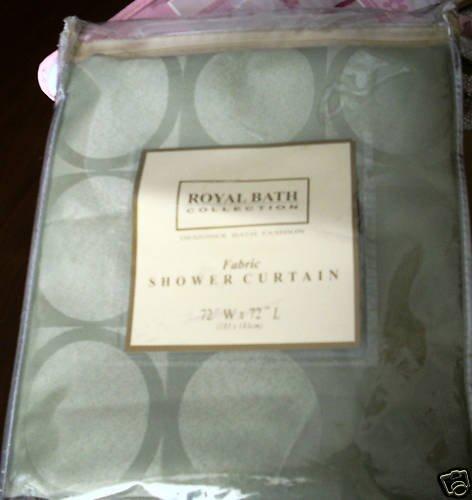 Royal Bath Geometric Shapes Circles Shower Curtain NEW