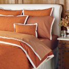 Williams Sonoma Twin Duvet Wellesley Mango NEW NWOP