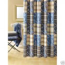 Perry Ellis America Camo Patch Shower Curtain NEW Blue