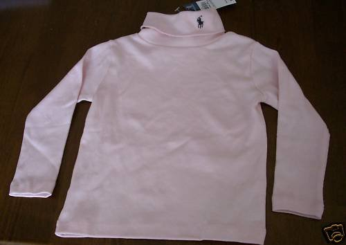 Ralph Lauren 2T Girl Pink Turtleneck NEW NWT Top Shirt