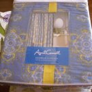 April Cornell Blue Yellow Medallion Shower Curtain NEW