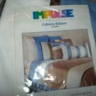 IMPULSE CABANA RIBBON BLUE STANDARD PILLOW SHAM NEW NIP