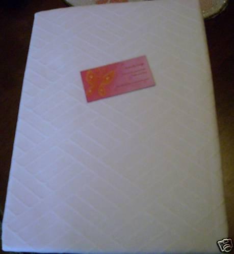 Lenox Textures Ivory Tablecloth NEW 52 x 70 NIP