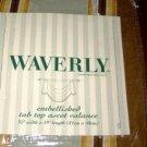 Waverly Capulet Stripe Mist Tab Tob Ascot Valance NEW