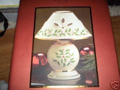 LENOX HOLIDAY TEALIGHT LAMP NEW NIP MSRP $43 TEA LIGHT