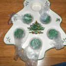 SPODE CHRISTMAS TREE SHAPED TEA LIGHT HOLDER NEW NWOB