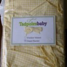 Tadpoles Baby Diaper Stacker Yellow Gingham Check NEW