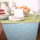 "Lenox Textures Blue Tablecloth 70"" Round NIP NEW"