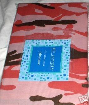 Bed Jammies Camoflauge Pillowcase Set NEW NIP Pair
