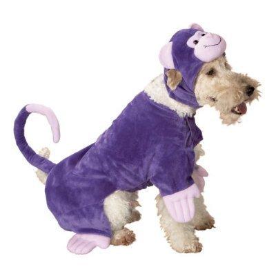 NEW Pet Costume Dog Hallowen Purple Monkey L Large NWT