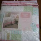 Maggie Miller Twin Quilt Sham Patchwork Set NEW Girl