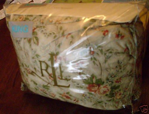Ralph Lauren Cole Brook Floral King Bed Skirt NEW NIP