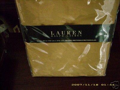 NEW NIP Ralph Lauren Gold Holly Tablecloth 60 X 84