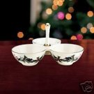 Lenox Winter Greetings Condiment Server NIB NEW $86