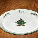 Spode Oval Dish Christmas Tree 10.5 Bowl Green trim