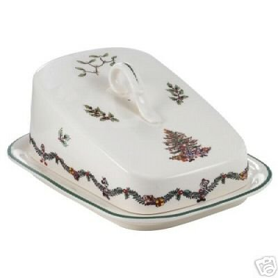Spode Disney Christmas Tree Cheese Wedge & Cover NEW
