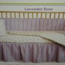 TADPOLE LAVENDAR ROSE CRIB SET NEW NIP 4 PCS GIRL