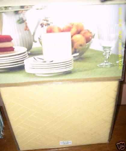 Lenox Textures Yellow Tablecloth 52 x 70 Oblong NEW