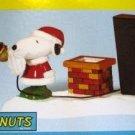 Peanuts Give Loudly Snoopy Santa Christmas Figurine NEW