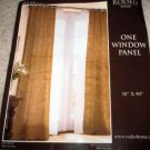 RODEO HOME MILAN JUTE WINDOW PANEL NEW NIP CURTAIN