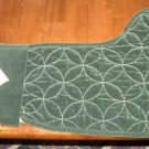 Bella Lux Holiday Christmas Stocking NEW Green Quilted