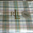 Ralph Lauren BOATHOUSE MADRAS Full Bedskirt NEW NIP