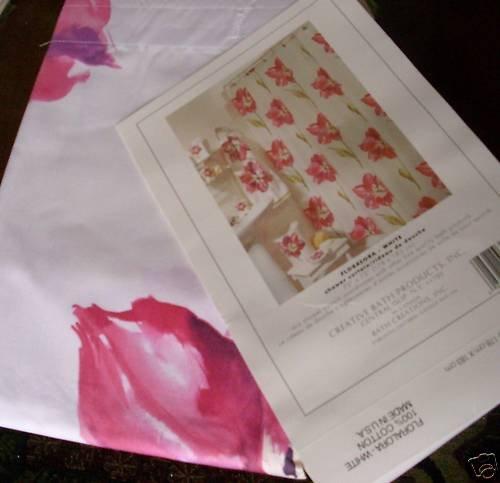 Creative Bath Floralora Flowers Shower Curtain NEW NIP